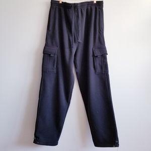 Royal Blue Men's 5XL Black  Cargo Sweatpants